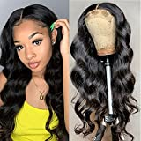 Osier Lace Front Wigs Human Hair Body Wave 4x4 Lace Closure Wigs 18inch 10A Brazilian Virgin Human Hair Wigs for Black Women Pre Plucked with Baby Hair