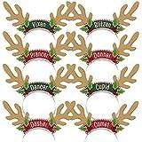 amscan 318720 Santa's Reindeer Headbands, 8ct
