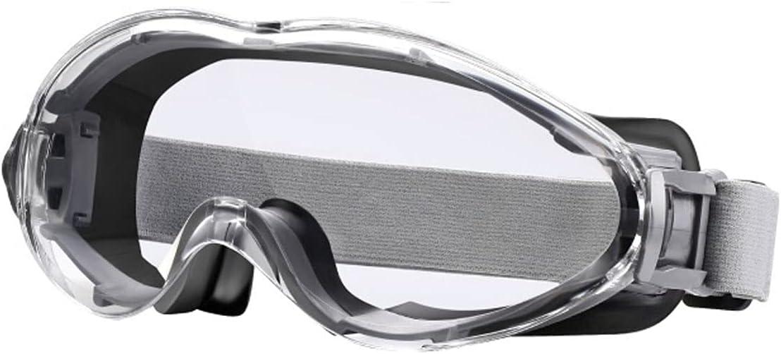 Wzdszuilhxj Gafas Ski, Gafas de Seguridad Gafas Protectoras Impermeable Táctico Deporte Eyewear Protección de Ojos Vidrios Equitación Esquí (Color : Gray)