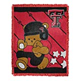 Texas Tech Red Raiders Baby Woven Jacquard Throw Blanket, 36' x 46'