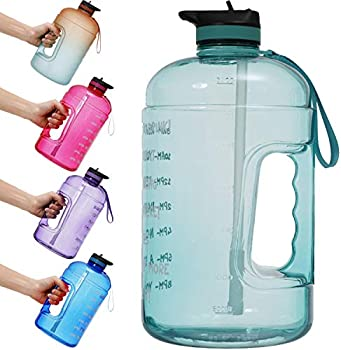 YiMeng Gallon Portable Water Jug with Motivational Time Marker