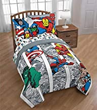 Marvel Comics Avengers Boys Full Comforter, Sheets, Bonus Sham & Bonus Toss Pillow (7 Piece Bed in A Bag) + Homemade Wax Melts