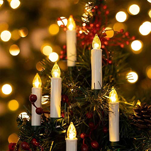 FuYouTa Vela de decoración de navidad Velas LED de Navidad