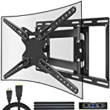 Everstone TV Wall Mount for Most 28-70 Inch LED LCD Plasma Flat Screen up to 110 lbs VESA 600x400mm with Full Motion Swivel Articulating Arm,Fits 8-16 Wall Studs,HDMI Cable