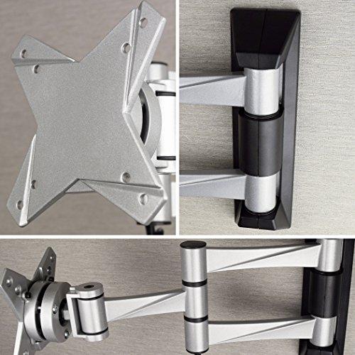 『テレビ 壁掛け 金具 STARPLATINUM 液晶 TV モニター 13-32インチ対応 TVセッターFS NA113 SSサイズ シルバー』の2枚目の画像