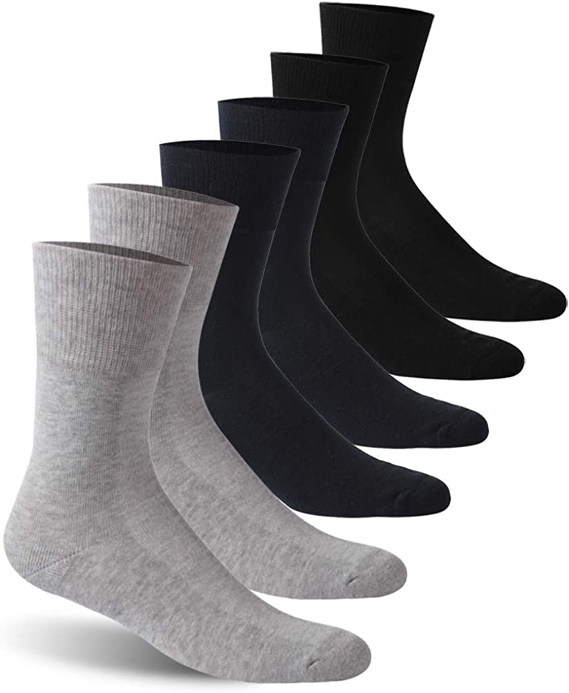 Facool Diabetic Socks for Men Max 50% OFF Crew Women Popular overseas Cushioned Dress Cotton