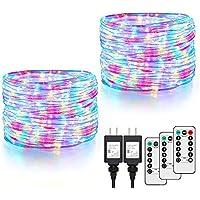 2-Pack 132FT Multicolor RGB IP68 Waterproof String Light