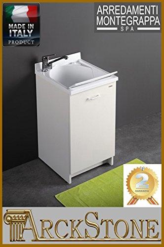 Mobile lavabo Montegrappa edilla con cesta L 109x B 60x h 89con protectora lavadora Derecho