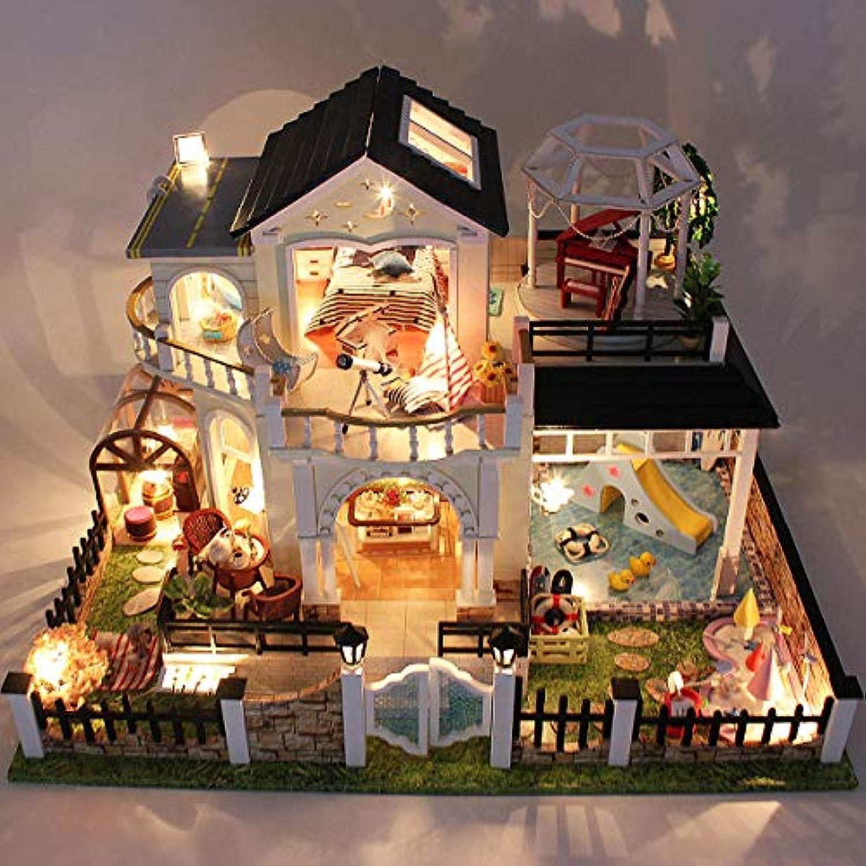 Global Brands Online DIY Holz Puppe Haus Elixier der Liebe Villa Miniaturen LED MBel Satz Licht