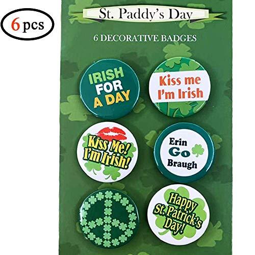 Best Prices! Volcanics St Patricks Day Irish Buttons Pins Halloween Irish Costume - Set of 6 Fun But...