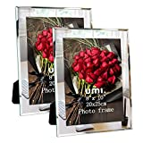 UMI. Essentials - Marco de Fotos de Cristal para Sobremesa, 20 x 25 cm Juego de 2