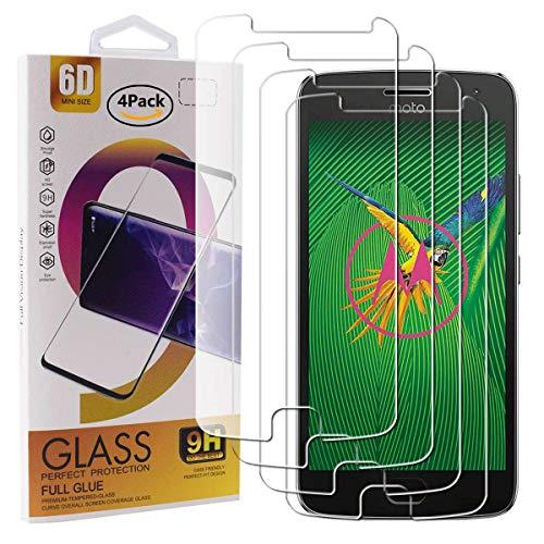 Guran 4 Paquete Cristal Templado Protector de Pantalla para Motorola Moto G5...