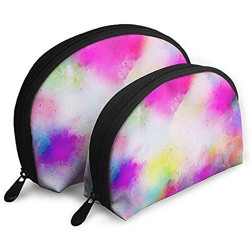 Abstrakte Kunst Aquarell Gekritzel tragbare Taschen Make-up Tasche Kulturbeutel Multifunktions tragbare Reisetaschen mit Reißverschluss