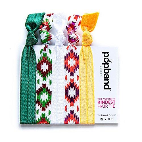 Popband Tannenbaum - Paquet de 5 Élastiques à Cheveux Popbands