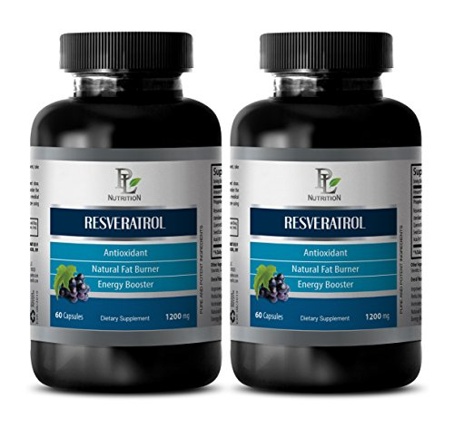 antioxidant Pill - RESVERATROL 1200 Mg - Natural ANTIOXIDANT Complex - resveratrol and Grape Seed Extract - 2 Bottles 120 Capsules
