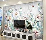 Papel Pintado Pared 3D Murales Pared Planta Tropical Flamingo Cactus Textura Papeles Pintados Fotomurales Decorativos Pared Decoración Mural Pared