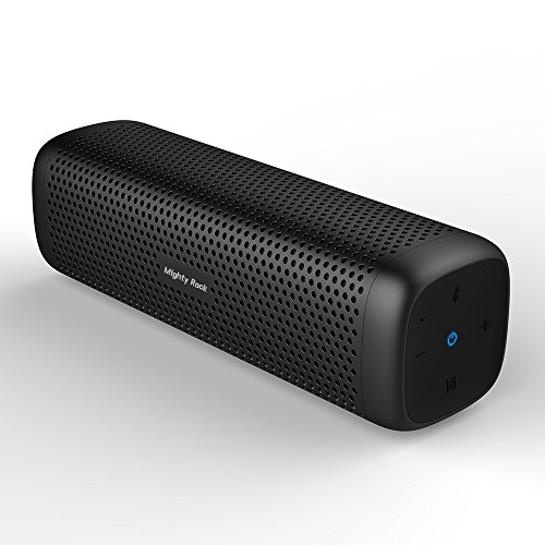 Mighty Rock 6110 Bluetooth Speakers Portable Wireless Speaker with 16W Rich Deep Bass, 12 Hours Playtime and Strong Aluminum-Alloy Shell Support TF Card (Black)