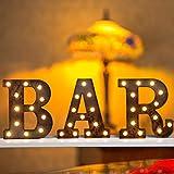 Vimlits Vintage-Rost-Barschilder, beleuchtete Buchstaben, industrieller Stil, beleuchtetes...