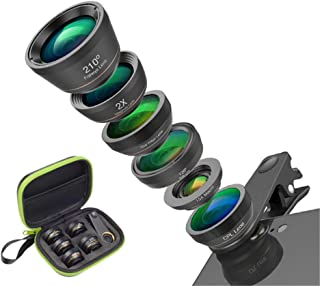 H Multifunctional Mobile Phone Camera Lens kit, Imported Glass and Aluminum Alloy, Precision Transparent Cover 180° Macro ...