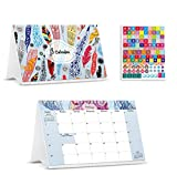 Desk Calendar from September 2020 Through January 2022 with Stickers -17 Months Colour Flip Calendar - Desktop Calendar 2021 - Tent Office Calendar
