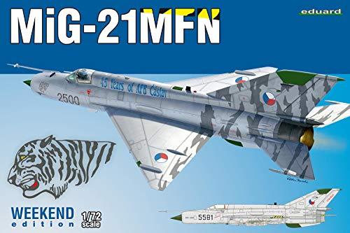 エデュアルド 1/72 ウィークエンドエディション チェコ空軍 MiG-21MFN プラモデル EDU7452