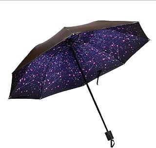 Sunny and Rain Dual-Purpose Blackgum Umbrella Windproof Double-Layer Foldable Sunshade Sunscreen and Rainproof