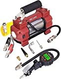 INCLAKE Tire Inflator Double Cylinders Air Compressor with Digital Pressure Gauge(Trigger Lock Equipped) 12V DC with LED Lights & 9ft Extension Hose 120 PSI for Off-Road Truck SUV and Bikes