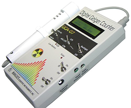 GCA-07W Professional Geiger Counter Nuclear Radiation Detection Monitor with Digital Meter and External Wand Probe - NRC Certification Ready- 0.001 mR/hr Resolution - 1000 mR/hr Range