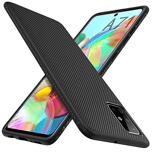 iBetter für Samsung Galaxy A71 Hülle, Ultra Thin Silikon hülle Abdeckung Handy Hülle Stoßfest Hülle Handyhülle Schutzhülle Shock Absorption passt für Samsung Galaxy A71 (nicht für 5G Version), Schwarz