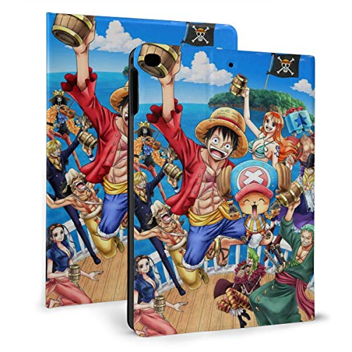 One Piece Anime Character Ipad Case Ipad Mini 4/5 (7.9inch)/Ipad Air 1/2 (9.7inch) Case Drop Smart Stand Back Cover Scratch Resistant Auto Wake/Sleep Precise Holes Ipad Cover