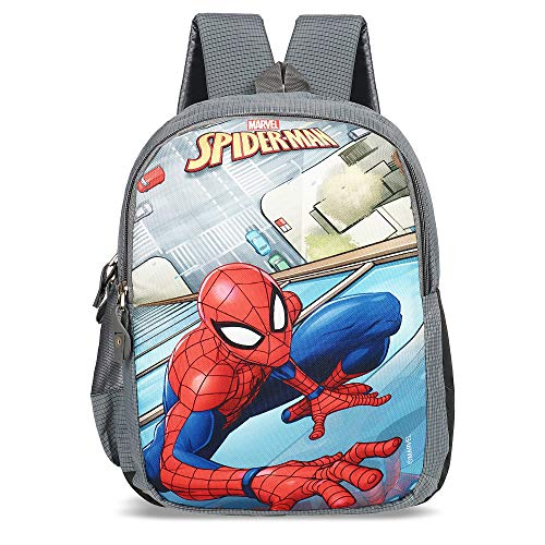 Priority Disney Marvel Spiderman 25 litres Grey School Bag | Casual Backpack for Boys & Girls, Kid's Backpack
