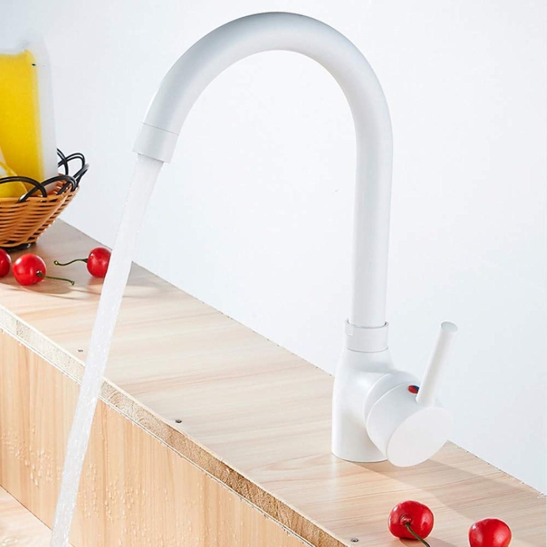 Lddpl Tap Copper Kitchen Faucet 360 redate White High Faucet Hot & Cold Kitchen Mixer Deck Mounted
