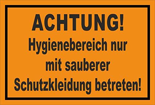 Melis Folienwerkstatt Schild Hygienebereich - 30x20cm - Bohrlöcher - 3mm Aluverbund – 20 VAR S00225-009-E
