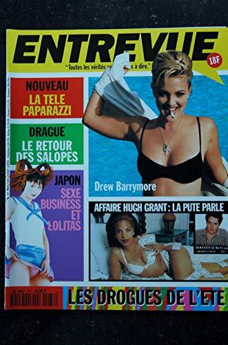 ENTREVUE 37 1995 Août DREW BARRYMORE Patsy KENSIT Alyssa MILANO Daniel PREVOST Jérémy IRONS Richard GERE CAUET