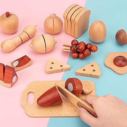 Juguetes alimenticios, juguetes de madera para niños, juguetes de rol, juguetes educativos, juguetes sensoriales, desarrollo temprano, juguetes de aprendizaje inteligentes de los niños, fiestas de cum