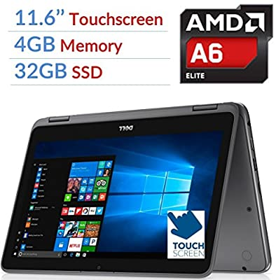 Dell Inspiron 3000 2-in-1 Convertible Laptop PC/Tablet, 11.6 LED-Backlit Touchscreen