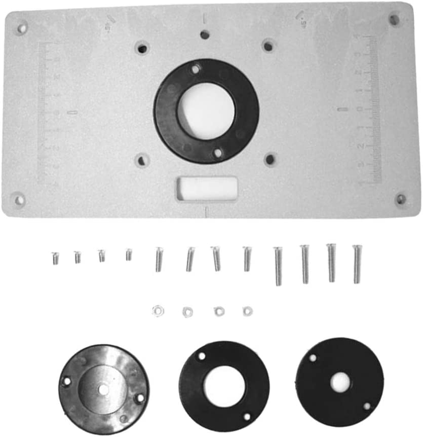 MagiDeal Router Table Insert Plate Kit Tool Manufacturer OFFicial shop Woodworking Benc Max 49% OFF for
