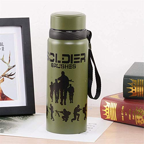 Insulation, Double Wall Stainless Steel Thermos and Water Bottle 304 Liner Insulation Cup Sports Cup Travel Pot Gift,Lid Cup