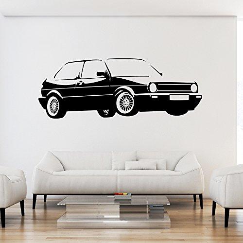 malango® Wandtattoo - Auto Fahrzeug Tuning Wand Tattoo Wandaufkleber Autowelt Männerwelt Design Style Aufkleber ca. 100 x 37 cm schwarz