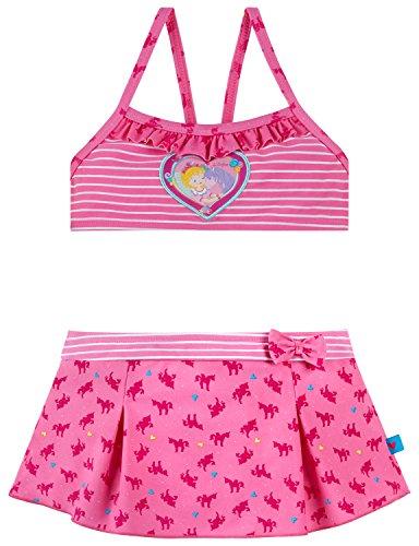 Schiesser Mädchen Prinzessin Lillifee Bustier-Bikini Badebekleidungsset, Rot (Rosé 506), 98 (Herstellergröße: 098)