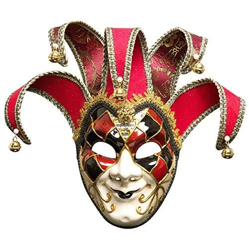 AXIANNV Skulptur Cosplay Maske Maskerade Cover italienischen Stil Festival Exquisite Vollgesichtsdekoration Easy Wear Vintage Weihnachten Mystery Party-b
