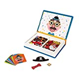 Janod - Magneti'Book Crazy Faces juguete educativo, Niños (J02716)
