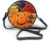 Bolso redondo mujer Women's Summer Round Bag Pumpkin Face Harvest Fashion Crossbody Shoulder Handbag Sling Purse Sling Bag