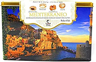 Matilde Vicenzi Mediterraneo Puff Pastry Assorment Cookies Tin 28.57oz