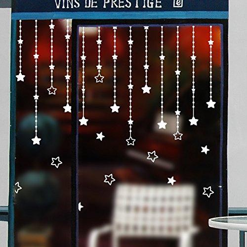 Kerst kralen gordijn winkels showcase bruiloft restaurant Koffie creatieve kleding gordijnen glazen deur muur sticker decor posters, het gordijn van sterren.