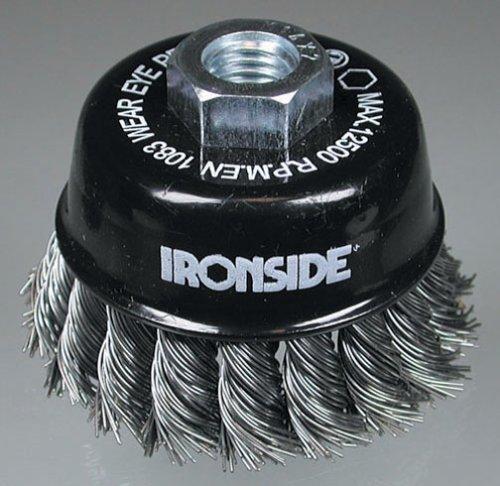 Ironside 243005 Brosse à fils métalliques 65mm M14 pour Meuleuse d'angle, Multicolore
