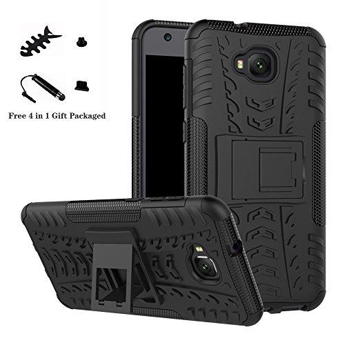 LiuShan ASUS ZD553KL Custodia, Protettiva Shockproof Rigida Dual Layer Resistente agli Urti con cavalletto Caso per ASUS Zenfone 4 Selfie ZD553KL Smartphone,Nero