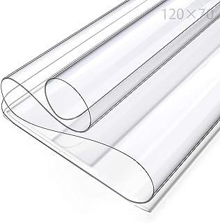 Nappe en PVC transparent, film de protection pour table, film de protection pour table, film transparent en PVC (70 cm x 1...