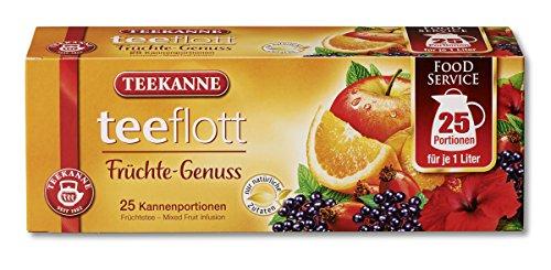 Teekanne Teeflott Früchtetee, 4er Pack (4 x 175g)