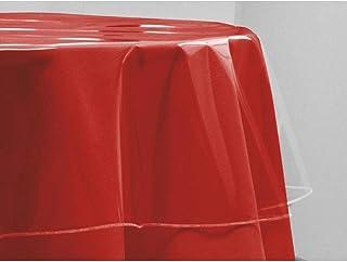 Toile Cirée De Protection Ronde 140 Cm Transparente - Linge De Table Imperméable